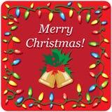 Weihnachtsdesign-Schablonenkarte Lizenzfreie Stockfotos