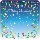 Weihnachtsdesign-Schablonenkarte Stockbild