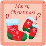 Weihnachtsdesign-Schablonenkarte Lizenzfreies Stockfoto
