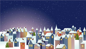 Weihnachtsdorf Stockfotos