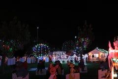 Weihnachtsdorf-Lichtshow Lizenzfreies Stockbild