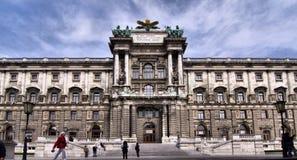Weihnachtsdorf Maria-Theresien Platz in Vienna Stock Image