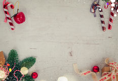 Weihnachtsebenenlage redete Szene an Lizenzfreies Stockbild