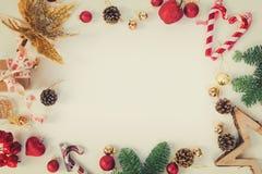 Weihnachtsebenenlage redete Szene an Stockfotos