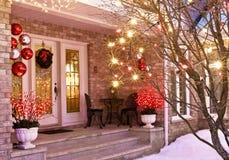 Weihnachtseingang Stockbilder
