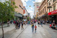 Weihnachtseinkaufen in Adelaide Lizenzfreies Stockbild