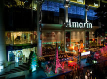 Weihnachtseinkaufen in Bangkok, Thailand lizenzfreie stockfotos