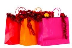 Weihnachtseinkaufen erhellt lizenzfreies stockfoto