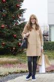 Weihnachtseinkaufen, Idee für Ihre Auslegung stockfotografie