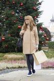 Weihnachtseinkaufen, Idee für Ihre Auslegung stockfotos