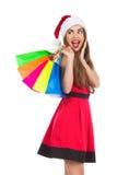 Weihnachtseinkaufen, Idee für Ihre Auslegung Lizenzfreie Stockbilder