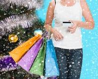 Weihnachtseinkaufen, Idee für Ihre Auslegung Stockbild
