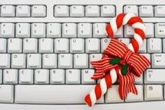 Weihnachtseinkaufen Online Stockfoto
