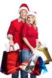 Weihnachtseinkaufenpaare Lizenzfreie Stockfotografie