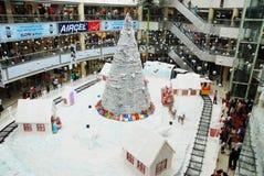 Weihnachtseinkaufsfeier Stockbild