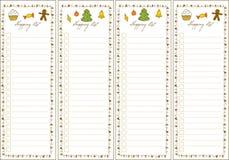 WeihnachtsEinkaufsliste Stockbilder