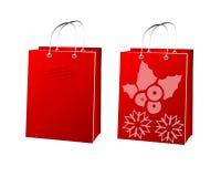 Weihnachtseinkaufstasche Lizenzfreie Stockfotos