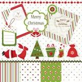 Weihnachtseinklebebuchsatz Stockbild