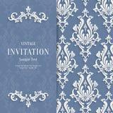 Weihnachtseinladungs-Hintergrund-Schablone Vektor-Grey Florals 3d Lizenzfreies Stockfoto