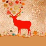 Weihnachtseinladungs-Kartenschablone. ENV 8 lizenzfreie abbildung