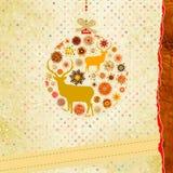 Weihnachtseinladungs-Kartenschablone. ENV 8 vektor abbildung