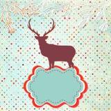 Weihnachtseinladungs-Kartenschablone. ENV 8 Lizenzfreies Stockbild
