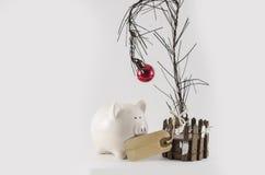 Weihnachtseinsparungen und -ausgabe lizenzfreies stockfoto