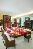 Weihnachtseinstellung Tabellenserie #1 Lizenzfreies Stockbild