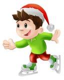 Weihnachtseis-Schlittschuhläufer Stockfotos