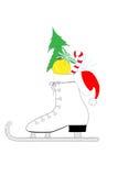 Weihnachtseisrochen Stockfoto