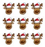 Weihnachtselch-Ausdrücke Stockfotos