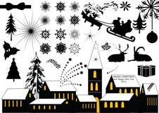 Weihnachtselementansammlung Stockbild