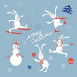 Weihnachtselemente Stockfoto