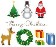 Weihnachtselemente Stockfotografie
