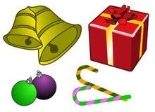 Weihnachtselemente. vektor abbildung