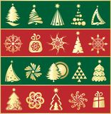 Weihnachtselemente vektor abbildung