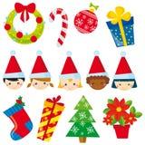 Weihnachtselemente Stockbild