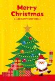 Weihnachtselemente des goldenen Hintergrundes vektor abbildung