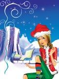 Weihnachtself Stockfotografie