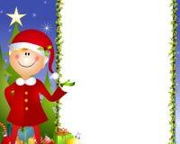 Weihnachtself-Hintergrund Lizenzfreies Stockbild
