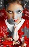 Weihnachtself-Puzzlespiel lizenzfreie stockfotos