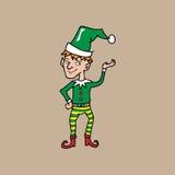 Weihnachtselfe abgestreifte Anlagen Stockbilder