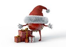 Weihnachtselfe und -geschenke Stockbilder
