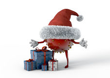 Weihnachtselfe und -geschenke Lizenzfreies Stockfoto