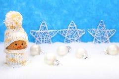 Weihnachtselfe, Weihnachtsdekorationen lizenzfreie stockbilder