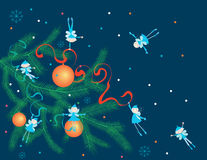 Weihnachtselfen Lizenzfreies Stockbild