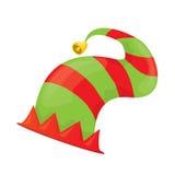Weihnachtselfenhut Auch im corel abgehobenen Betrag Stockfoto