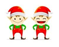 Weihnachtselfenzwilling Lizenzfreie Stockfotos
