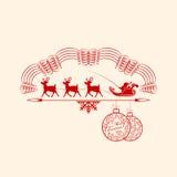 Weihnachtsemblem mit Santa Claus Lizenzfreie Stockfotos