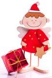 Weihnachtsengel und -geschenk Lizenzfreies Stockfoto